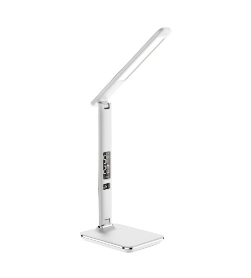 Mercator Henderson LED Touch Colour Changing Desk Lamp USB & Wireless Qi Charger - White