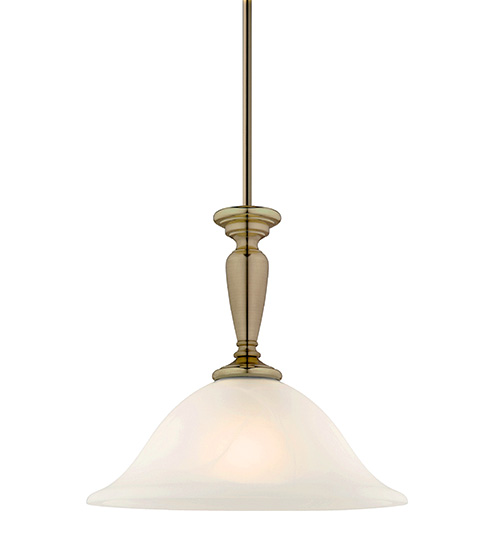 Cougar Stepney 1 Light Pendant - Antique Brass