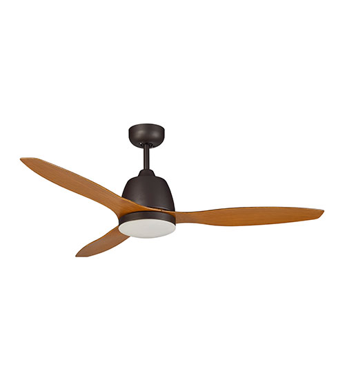 "Martec Elite 48"" Ceiling Fan with 20W LED Light CCT Switch - Old Bronze with Merbau Finish Blades"