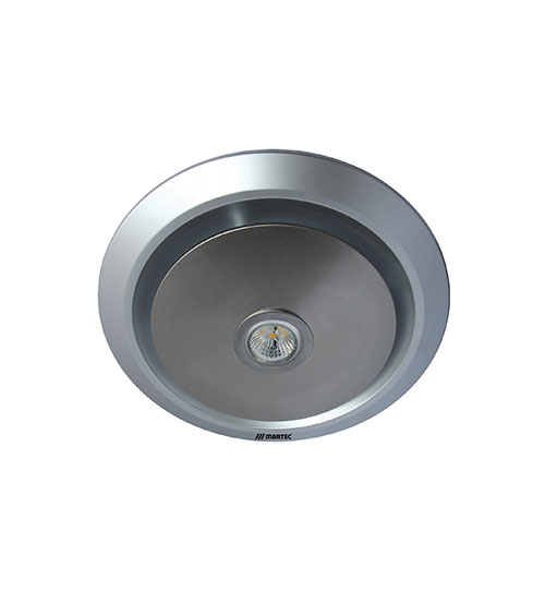 Martec Gyro Exhaust Fan and LED Light - Silver