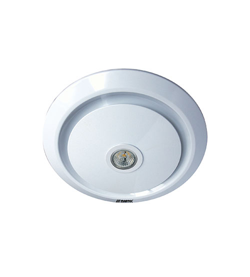 Martec Gyro Exhaust Fan and LED Light - White