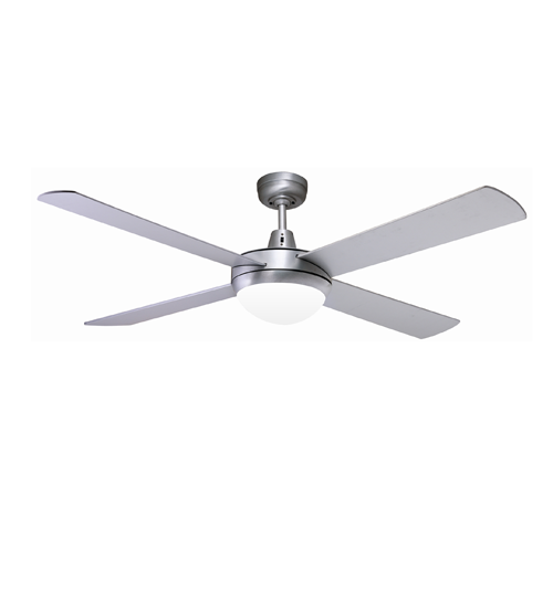 "Martec Lifestyle 52"" Ceiling Fan With E27 Light - Brushed Aluminium"