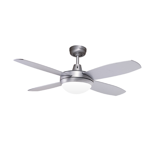 "Martec Lifestyle Mini 42"" Ceiling Fan With Halogen Light - Brushed Aluminium"