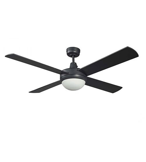 "Martec Lifestyle 52"" Ceiling Fan With E27 Light - Black"