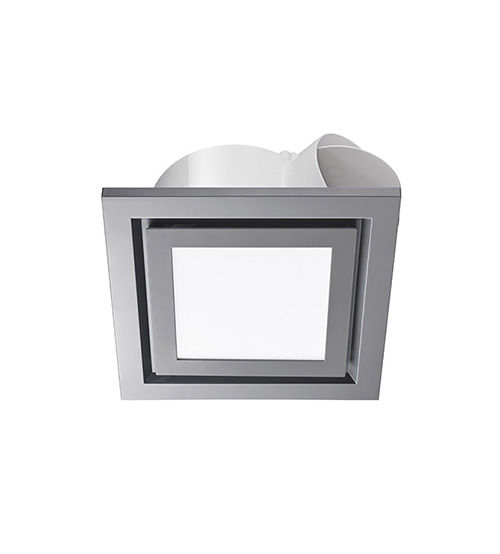 Ventair Pro-V Airbus Square Exhaust Fan 200mm with LED Light - Silver