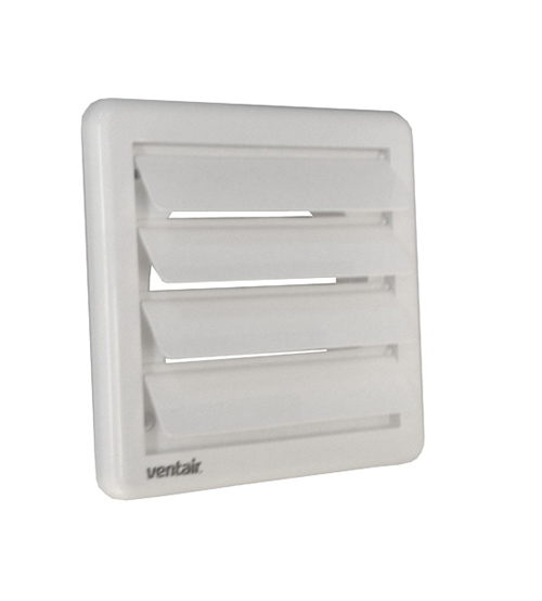 Ventair Outlet Gravity Shutter Grille 150mm - White
