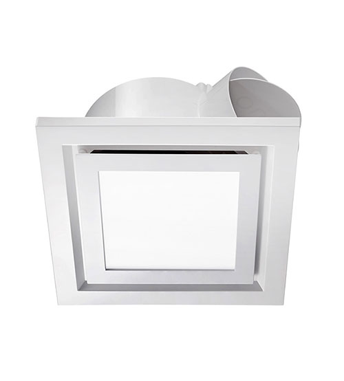 Ventair Pro-V Airbus Square Exhaust Fan 250mm with LED Light - White #0001B